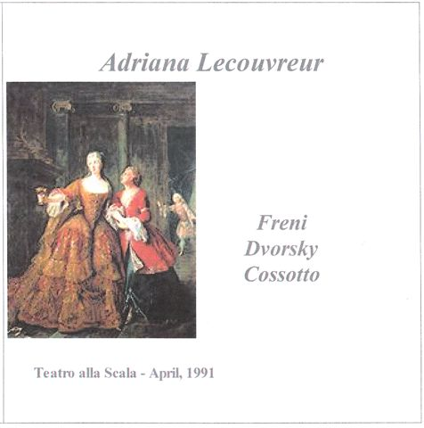 Cover of Adriana Lecouvreur